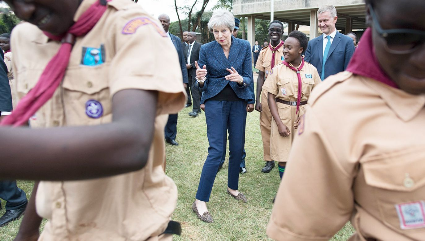 Tańcząca premier Wielkiej Brytanii to hit sieci na Wyspach (fot. Stefan Rousseau/PA Images via Getty Images)