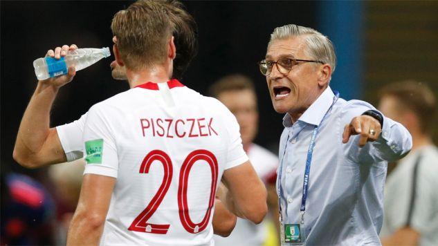 Trener Adam Nawałka przyznał, że Polacy nie dotrzymywali kroku Kolumbii (fot. PAP/EPA/ROBERT GHEMENT)