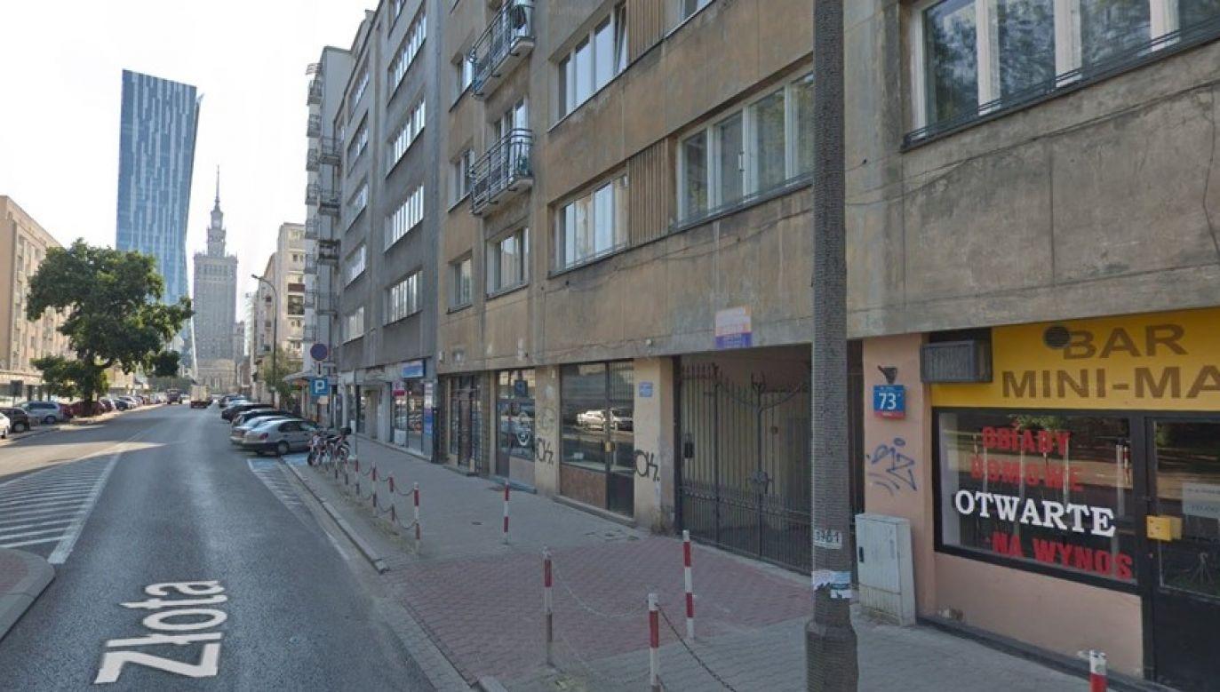 Na ul. Złotej w Warszawie znaleziono ładunek wybuchowy/GoogleMaps