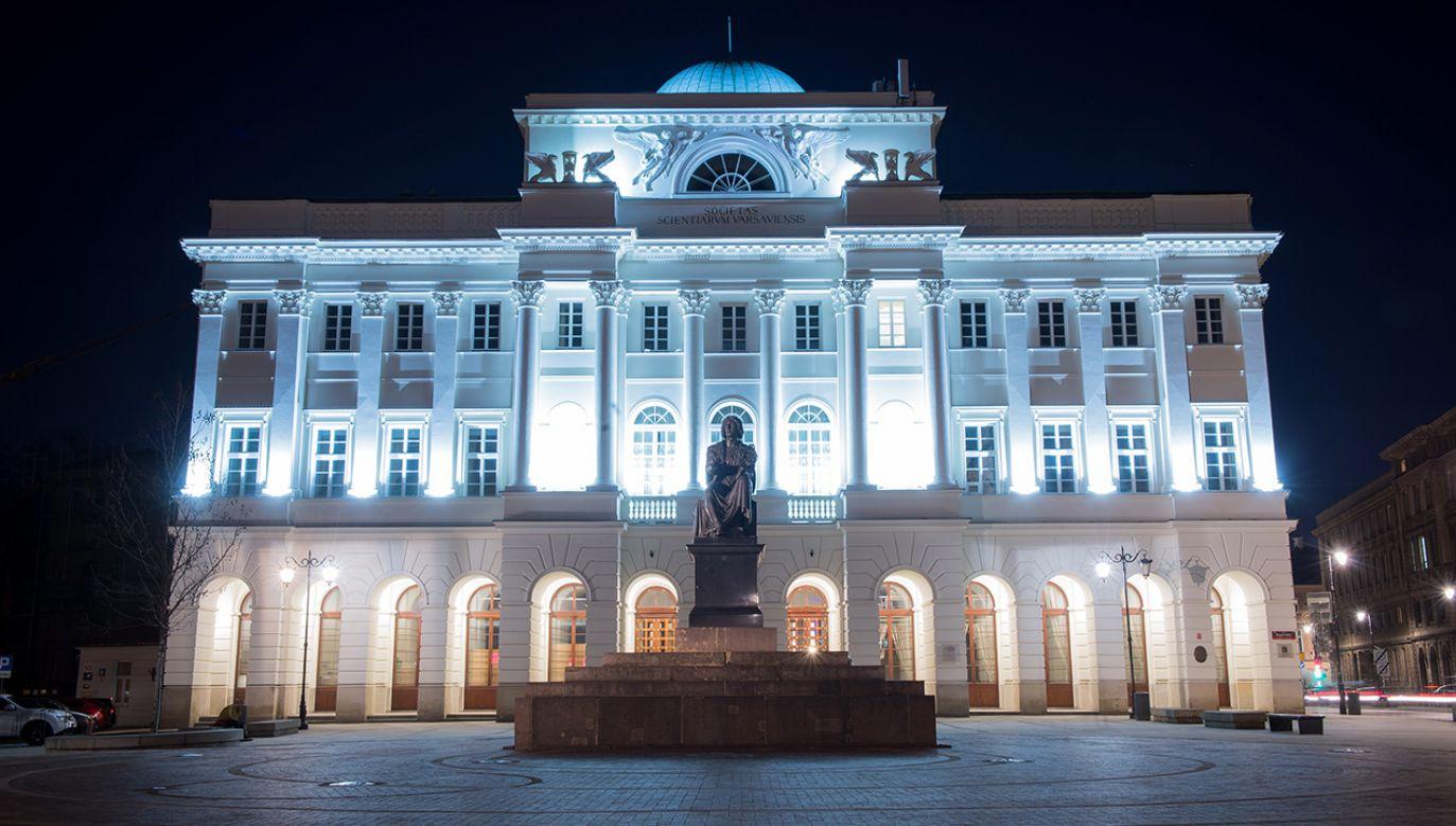 Pałac Staszica, siedziba Polskiej Akademii Nauk (fot. arch. PAP/Jacek Turczyk)