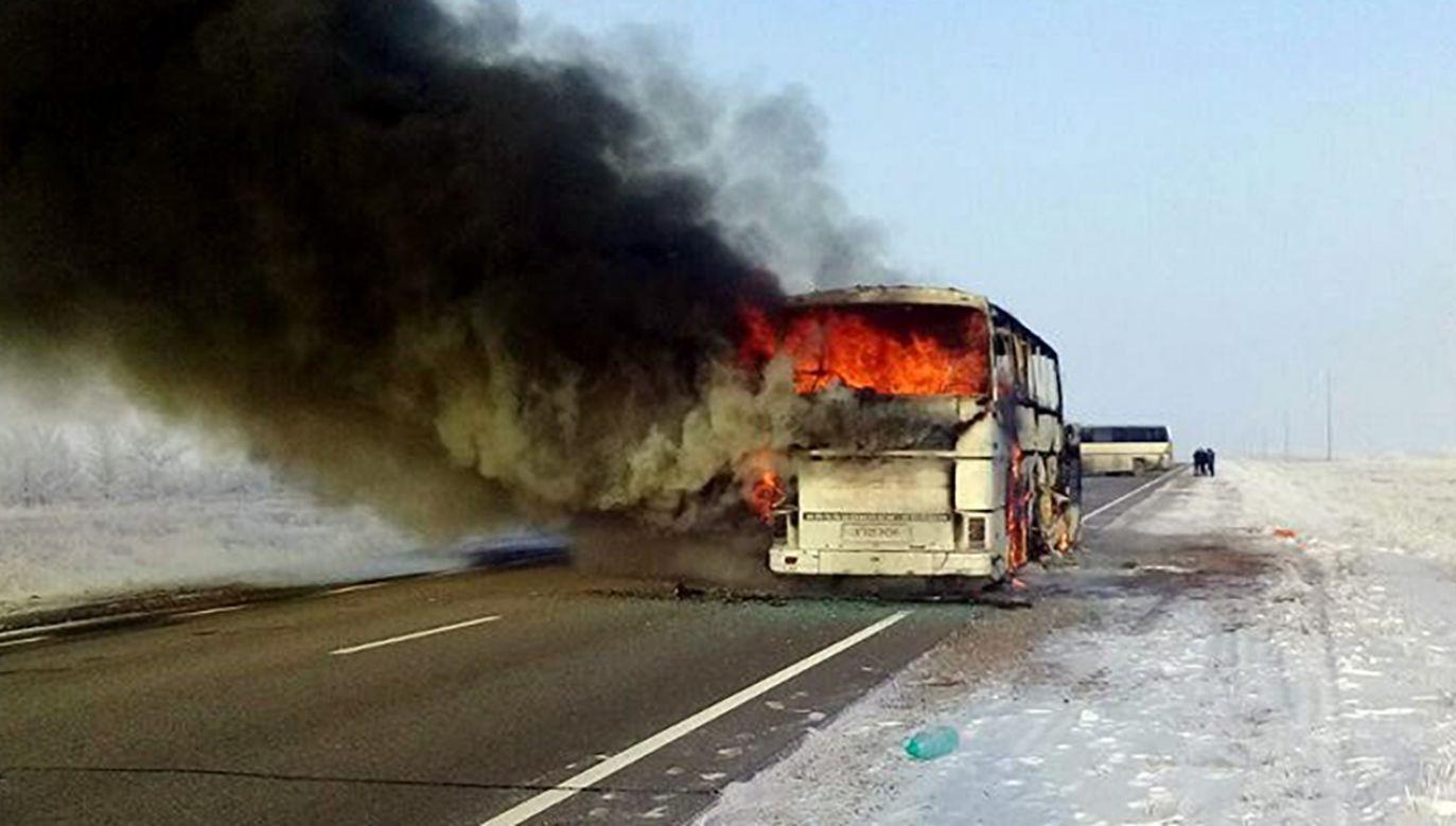 52 ludzi spłonęło żywcem (fot. PAP/ EPA/Kazakhstan's Internal Affairs Ministry / HANDOUT)