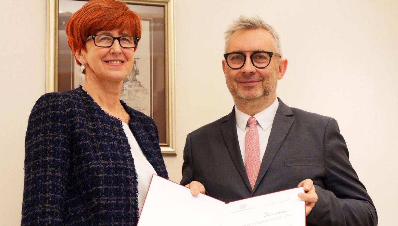 Minister Elżbieta Rafalska i podsekretarz stanu Kazimierz Kuberski (fot. tt/@MRPiPS_GOV_PL)