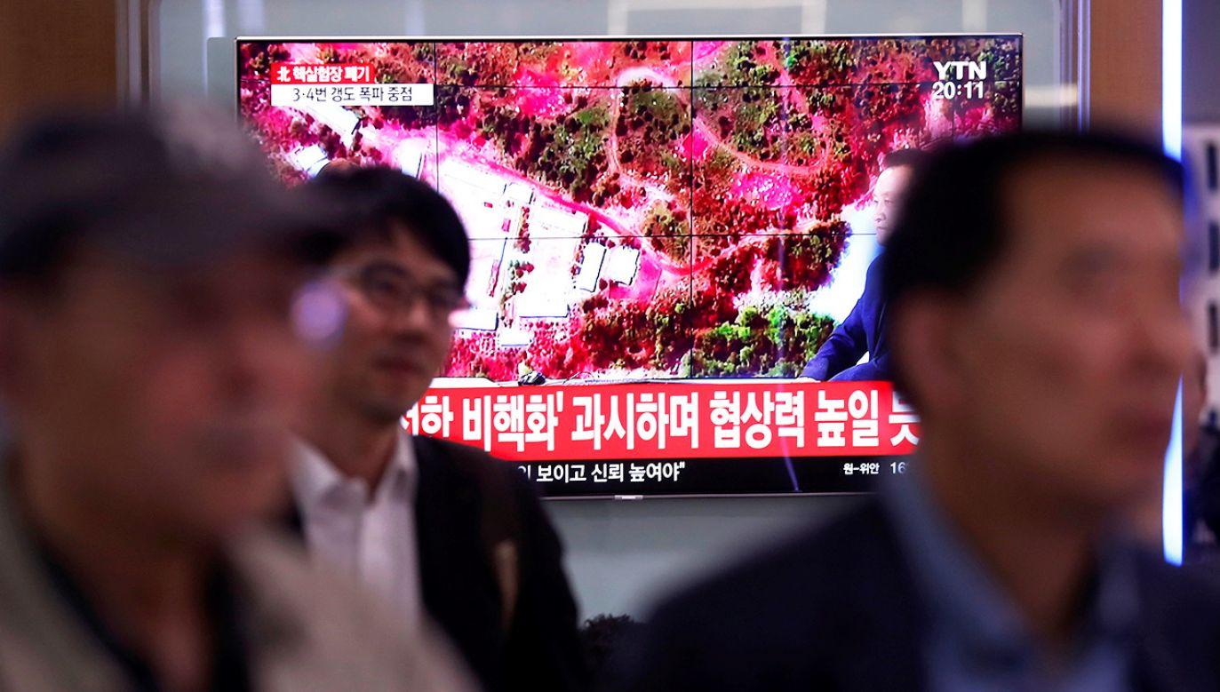 Eksplozje pokazała północnokoreańska telewizja (fot. REUTERS/Kim Hong-Ji)