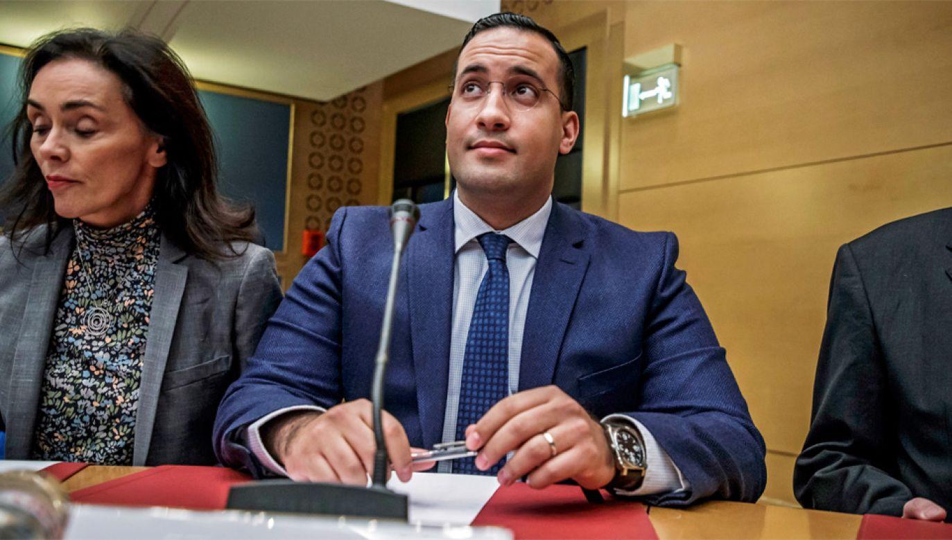Alexandre Benalla jest podejrzany m.in. o nadużycia stanowiska (fot. PAP/EPA/CHRISTOPHE PETIT TESSON)