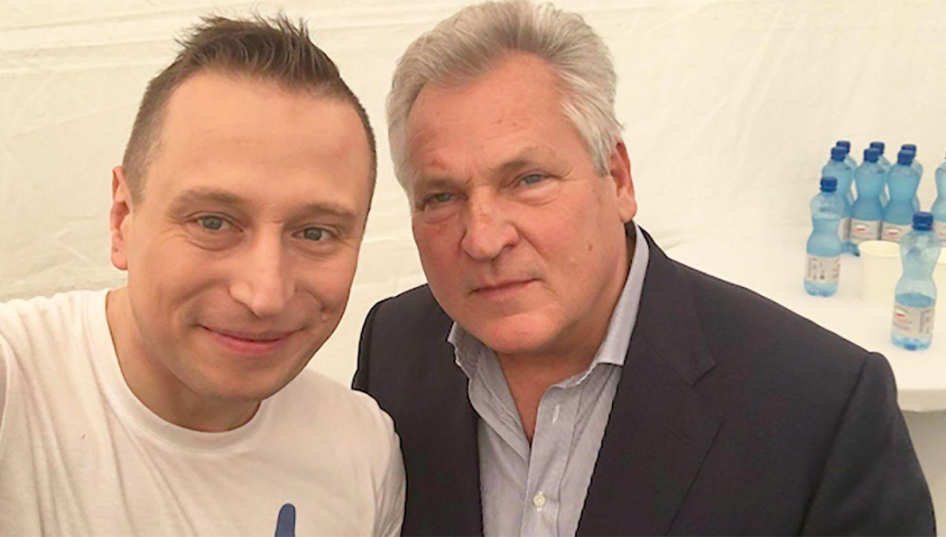 Krzysztof Brejza, Aleksander Kwaśniewski (fot. tt/@KrzysztofBrejza)