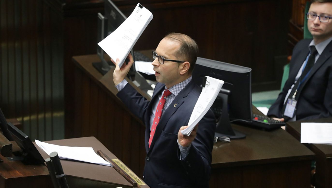 Poseł PO Michał Szczerba (fot. PAP/Tomasz Gzell)