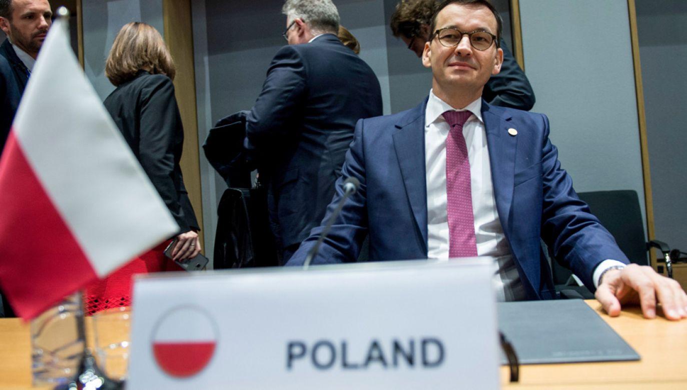 Premier Morawiecki po raz pierwszy wziął udział w unijnym szczycie jako szef polskiego rządu (fot. PAP/Marcin Obara)