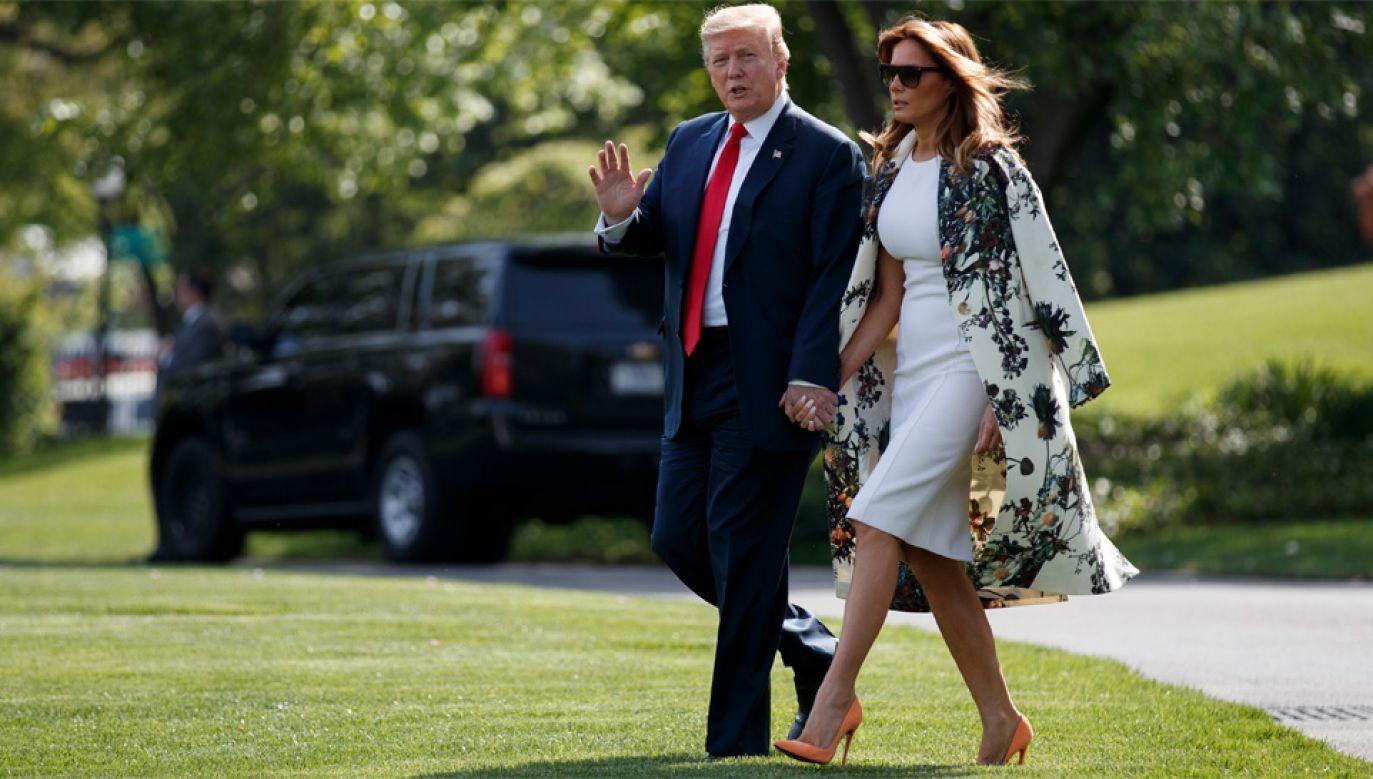 Prezydent Donald Trump nie chce publikować swoich oświadczeń majątkowych (fot. PAP/EPA/SHAWN THEW)