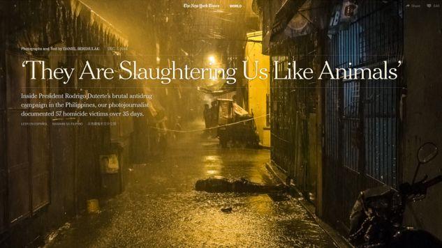 Wstrząsająca relacja z Pulitzerem na koncie (fot.nyt)