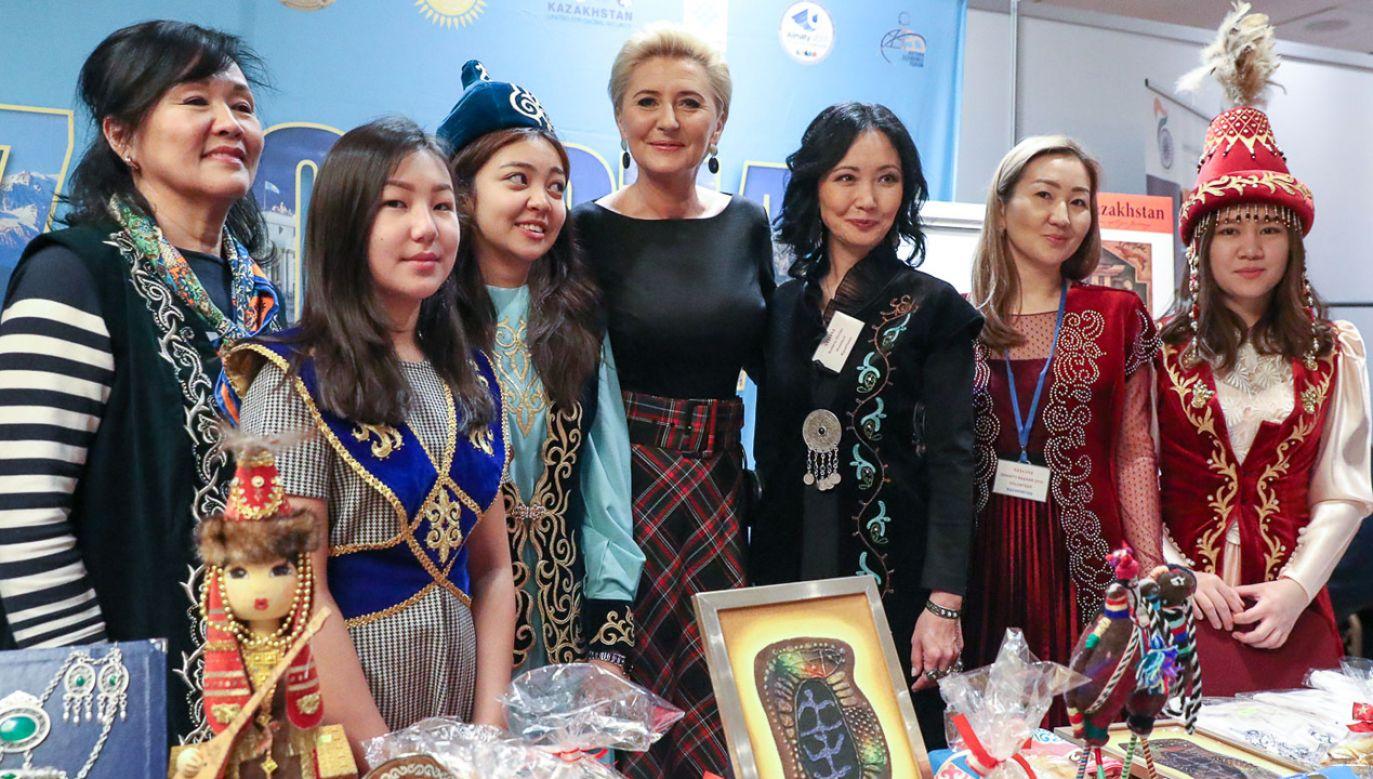 Agata Kornhauser-Duda wzięła udział w międzynarodowym kiermaszu dobroczynnym SHOM (fot. KPRP/Grzegorz Jakubowski)