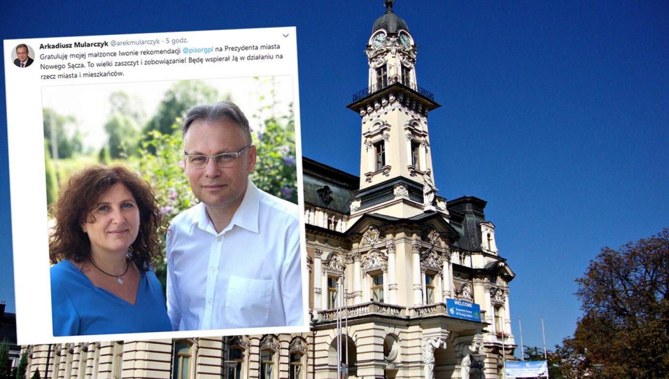 Iwona Mularczyk będzie kandydatką na prezydenta Nowego Sącza (woj. małopolskie) (fot. Pixabay/DzidekLasek / twitter/@arekmularczyk)