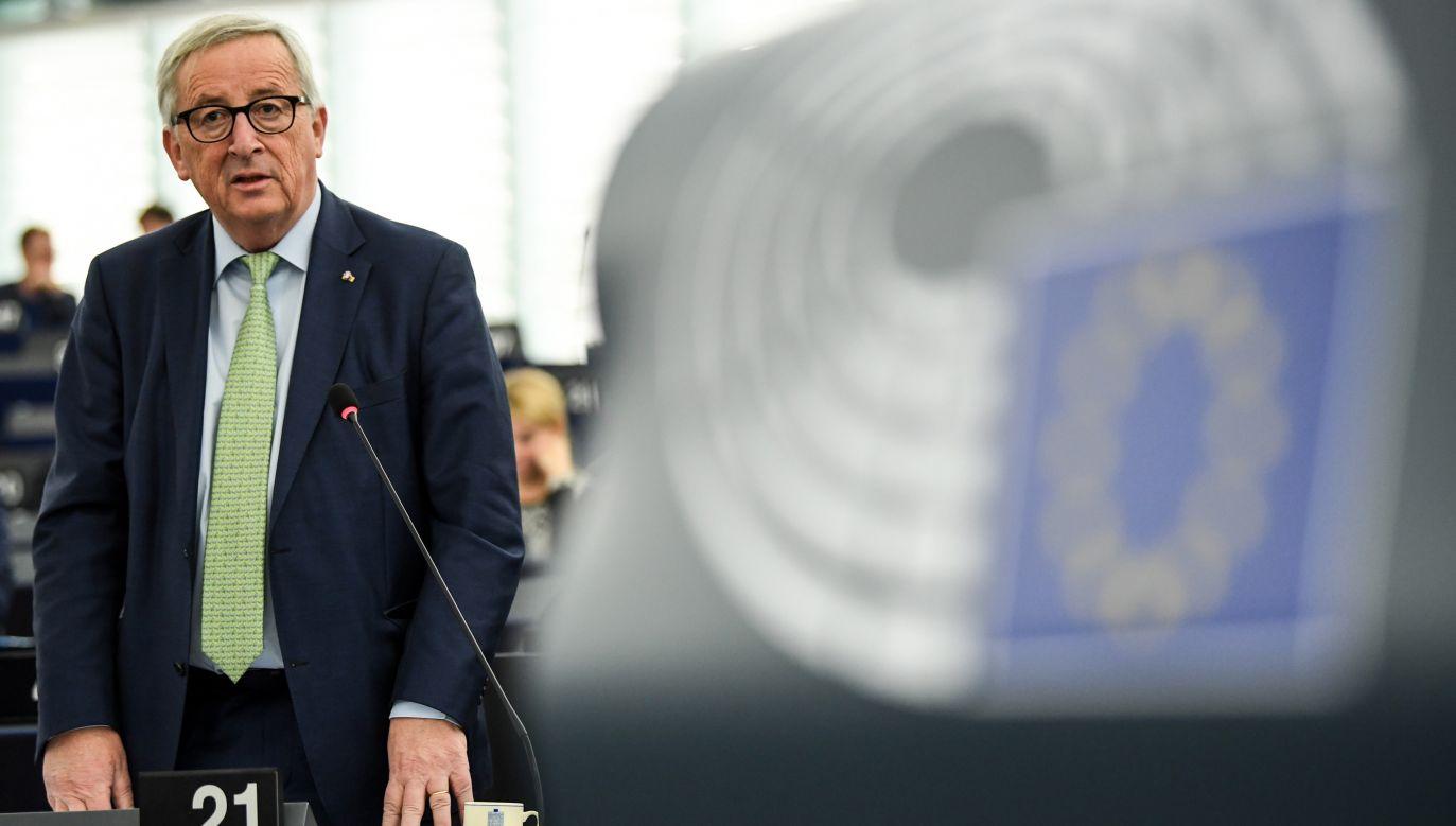 Jean-Claude Juncker, przewodniczący Komisji Europejskiej (fot. PAP/EPA/PATRICK SEEGER)