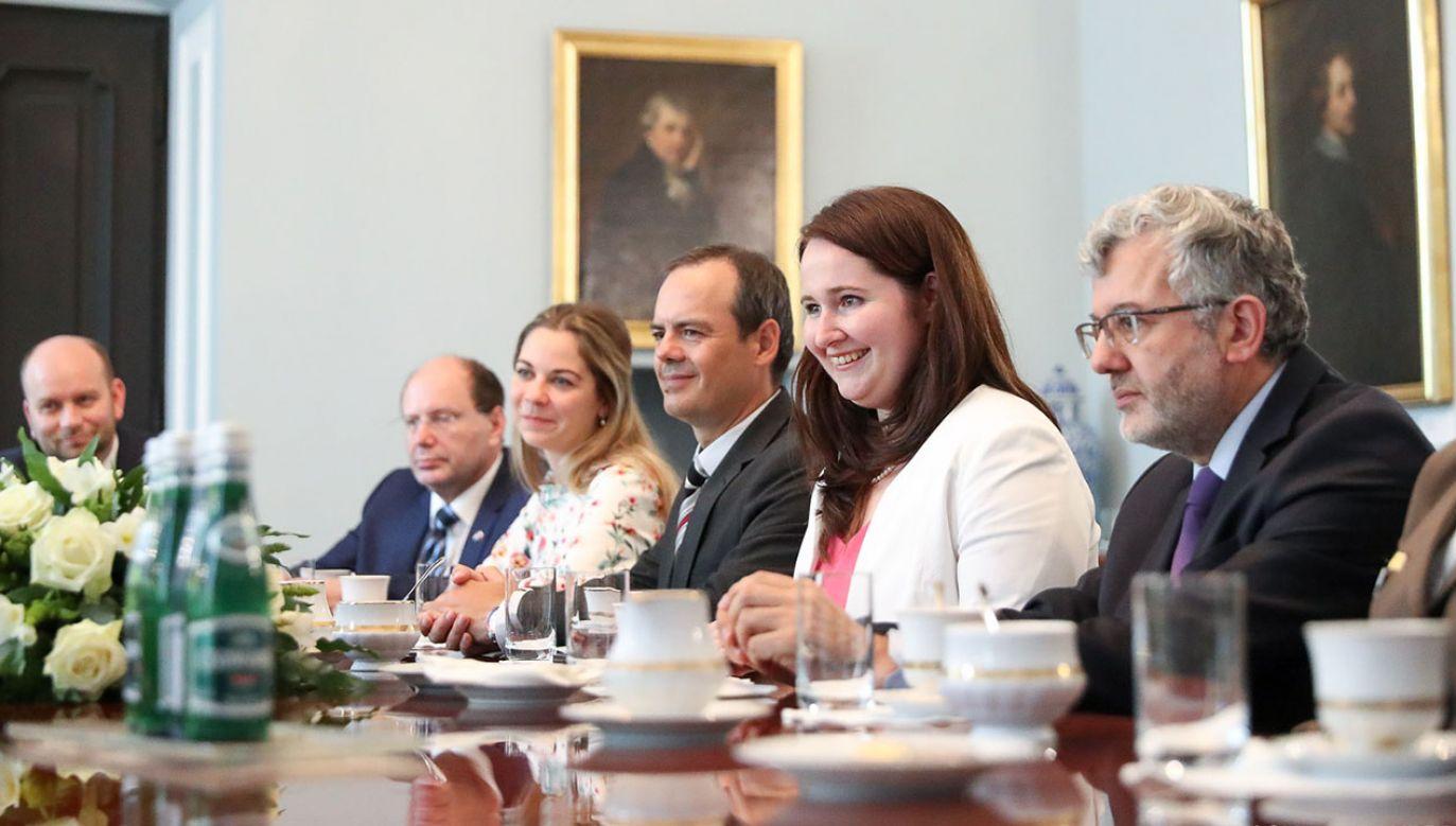 Prezentacja okolicznościowego nagrania Ambasady Węgier w Warszawie odbyła się w Pałacu Prezydenckim (fot. Krzysztof Sitkowski/KPRP)