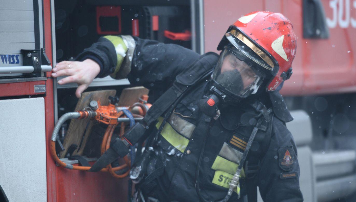 W wyniku pożaru zginęło dwuletnie dziecko (fot. PAP/Jacek Turczyk)