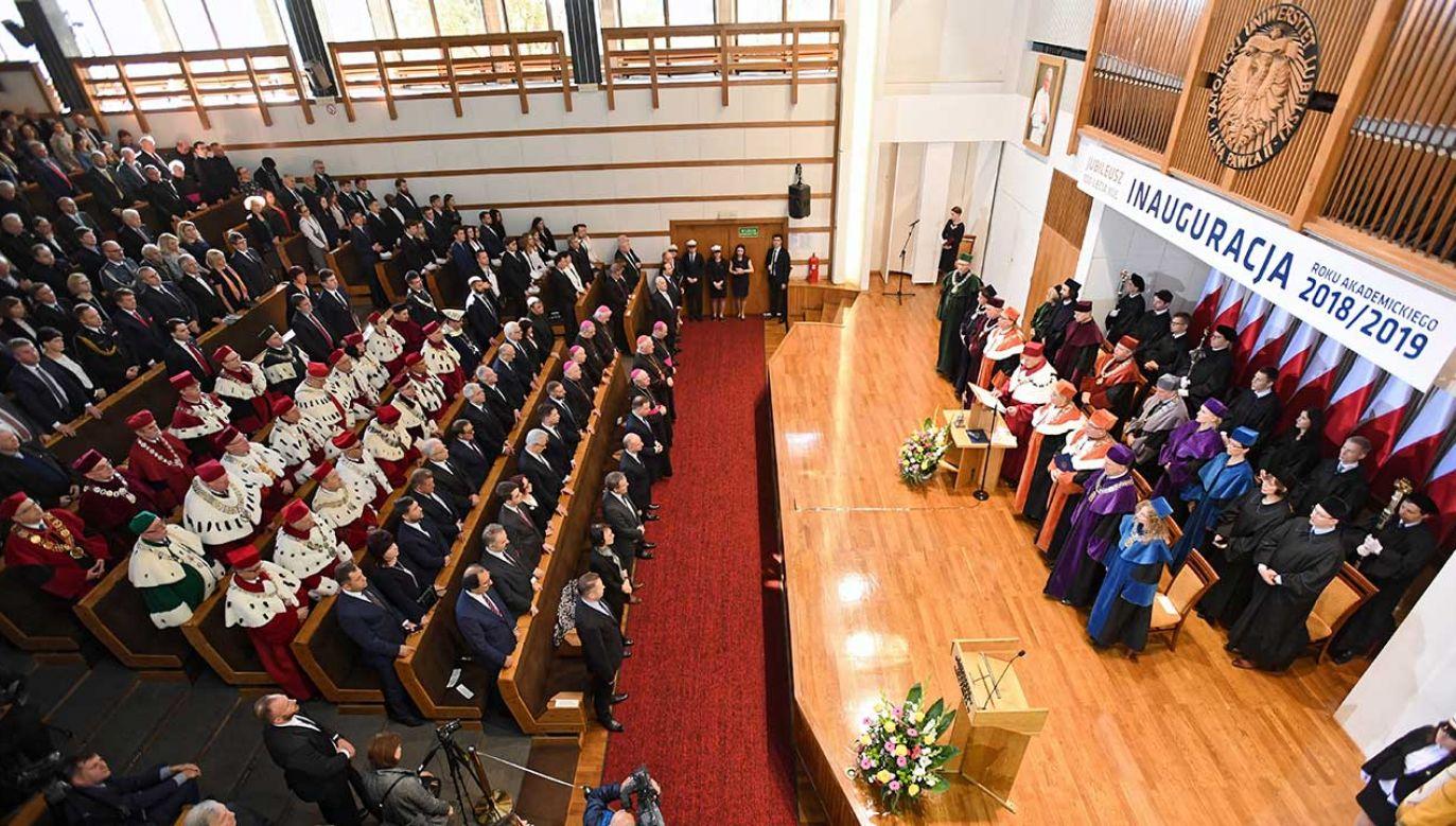 Inauguracja roku akademickiego 2018/2019 na Katolickim Uniwersytecie Lubelskim (fot. arch. PAP/Wojciech Pacewicz)