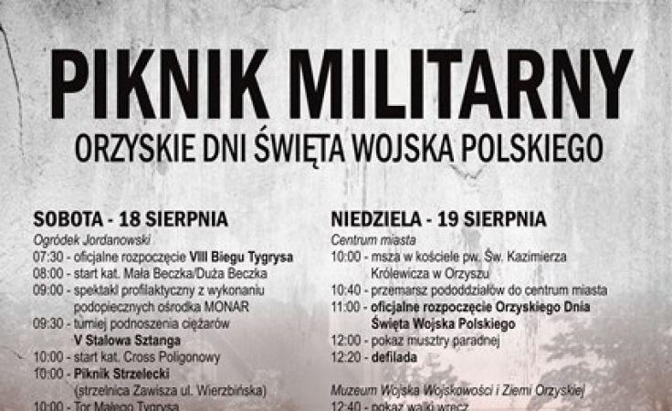 Piknik militarny w Orzyszu odbędzie się w dniach 18019 sierpnia