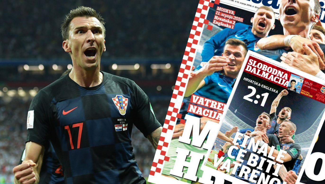 Chorwaci po raz pierwszy w historii zagrają w finale mistrzostw świata (fot. PAP/EPA)