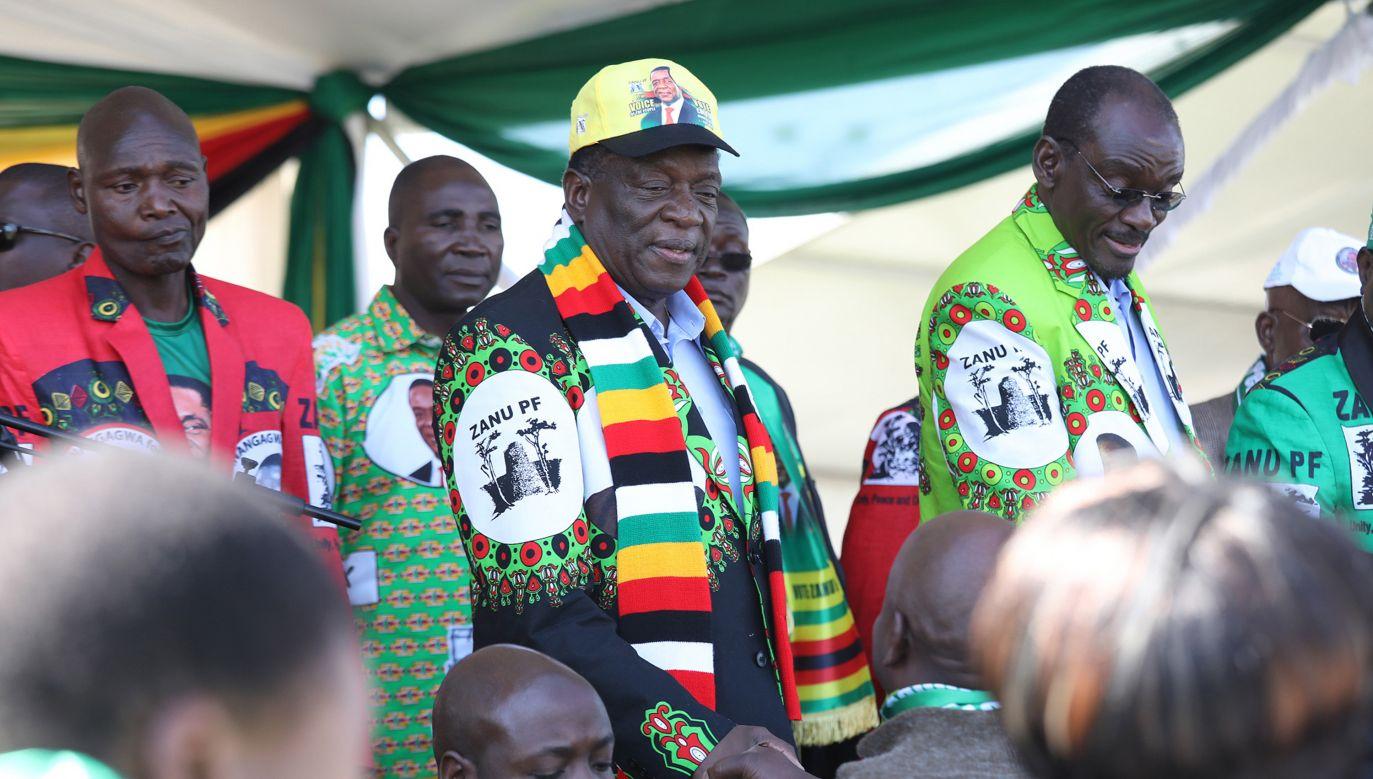 Media twierdzą, że to nieudana próba zamachu na prezydenta Zimbabwe (fot. Aaron Ufumeli, PAP/EPA)