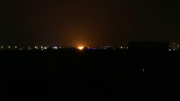 Lotnisko w Damaszku było już wielokrotnie celem ostrzału (fot. Samir Tatin/Anadolu Agency/Getty Images)