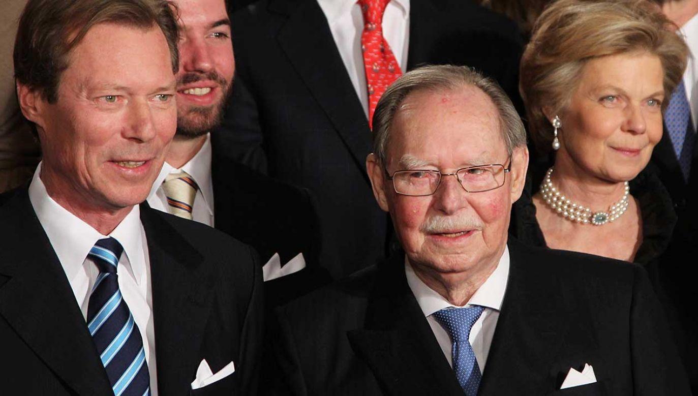 Książę Luksemburga Jean w 90. urodziny i Książę Henry w Wielkim Pałacu Książęcym w Luksemburgu (fot. PAP/EPA/THOMAS FREY)