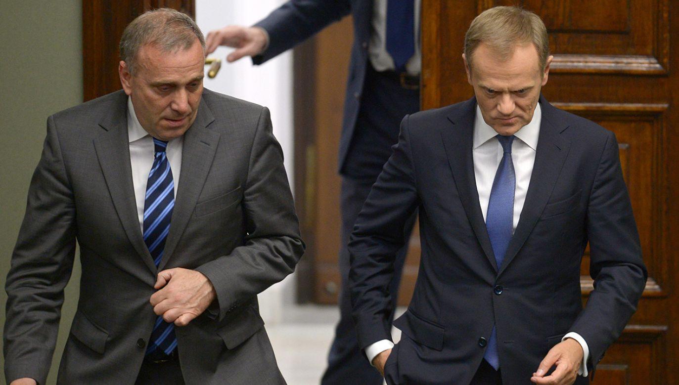Politolog prof. Kazimierz Kik nie wierzy, by Tusk był zainteresowany rozbiciem partii Schetyny, jeśli ta odniosłaby sukces w wyborach do PE (fot. arch. PAP/Radek Pietruszka)