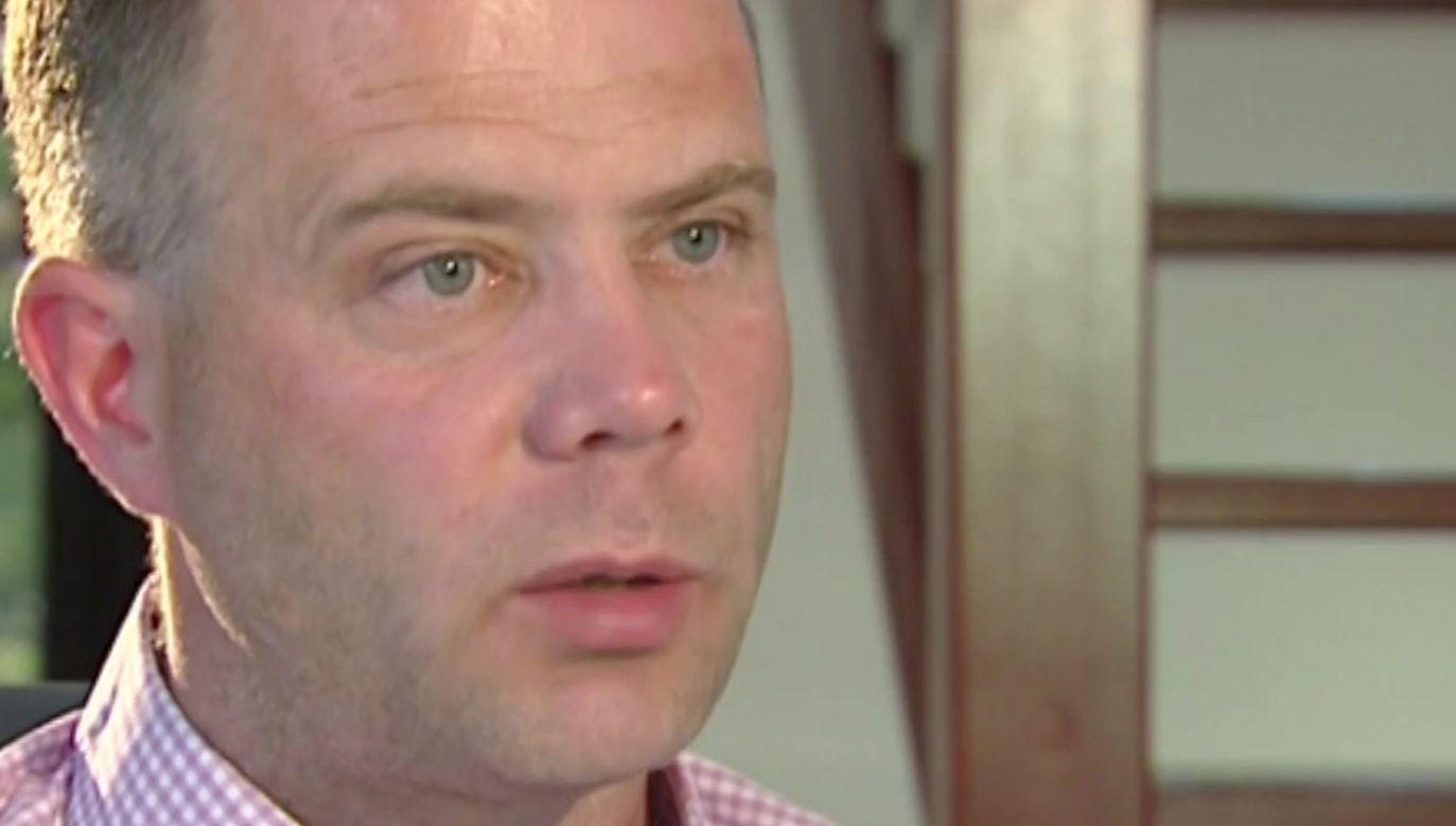 Wywiad z Norbertem Basiurą, jednym z oskarżonych o zbrodnię w Miłoszycach (fot. TVP Info)