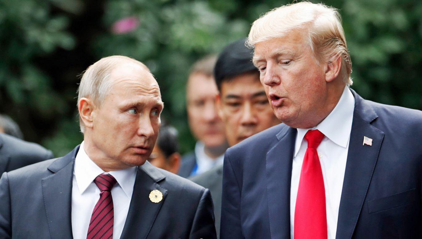Władimir Putin i Donald Trump dotąd odbywali tylko krótkie rozmowy (fot. PAP/EPA/JORGE SILVA / POOL)
