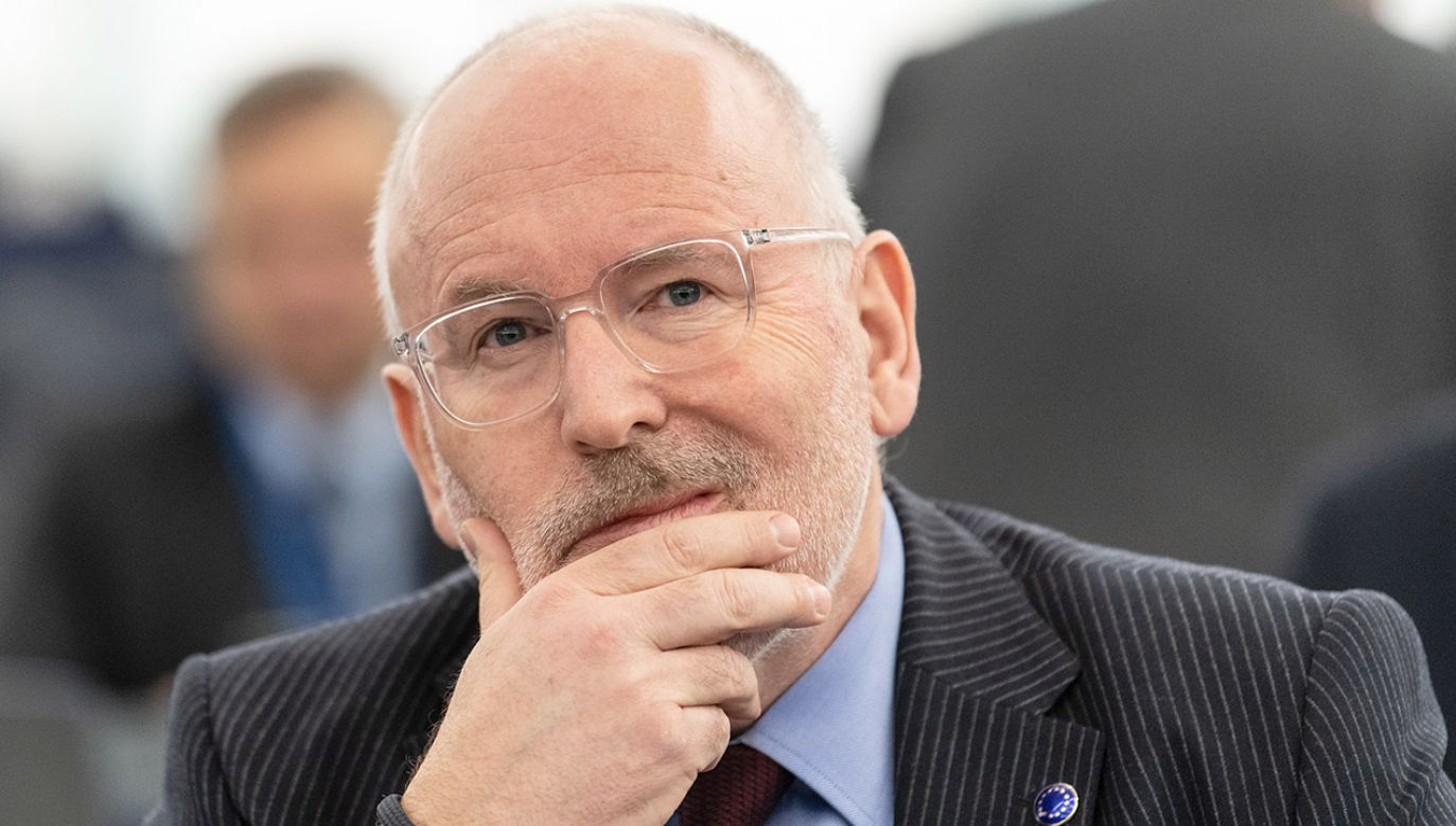 Wiceszef KE Frans Timmermans (fot. PAP/EPA/PATRICK SEEGER)