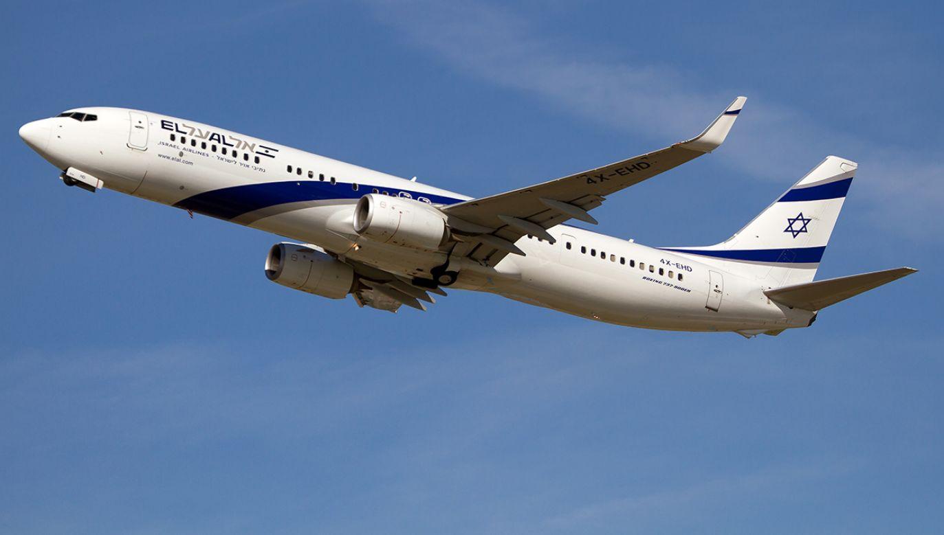Premierowi Netanjahu dostarczono drugi samolot, którym w godzinach przedpołudniowych odleciał do Izraela (fot. Fabrizio Gandolfo/SOPA Images/LightRocket/Getty Images)