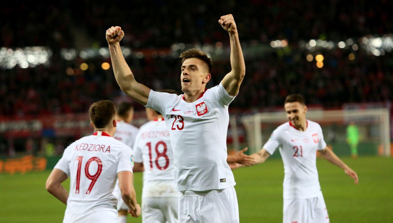 Krzysztof Piątek strzelił zwycięską bramkę w meczu z Austrią (fot. PAP/Leszek Szymański)
