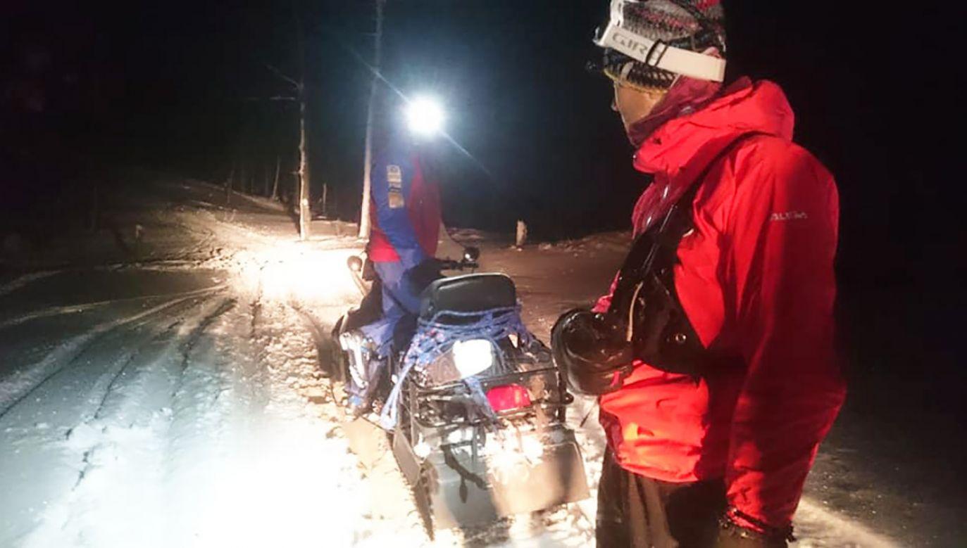 Temperatura w nocy wynosiła ok. -18 stopni (fot. GOPR Podhale)