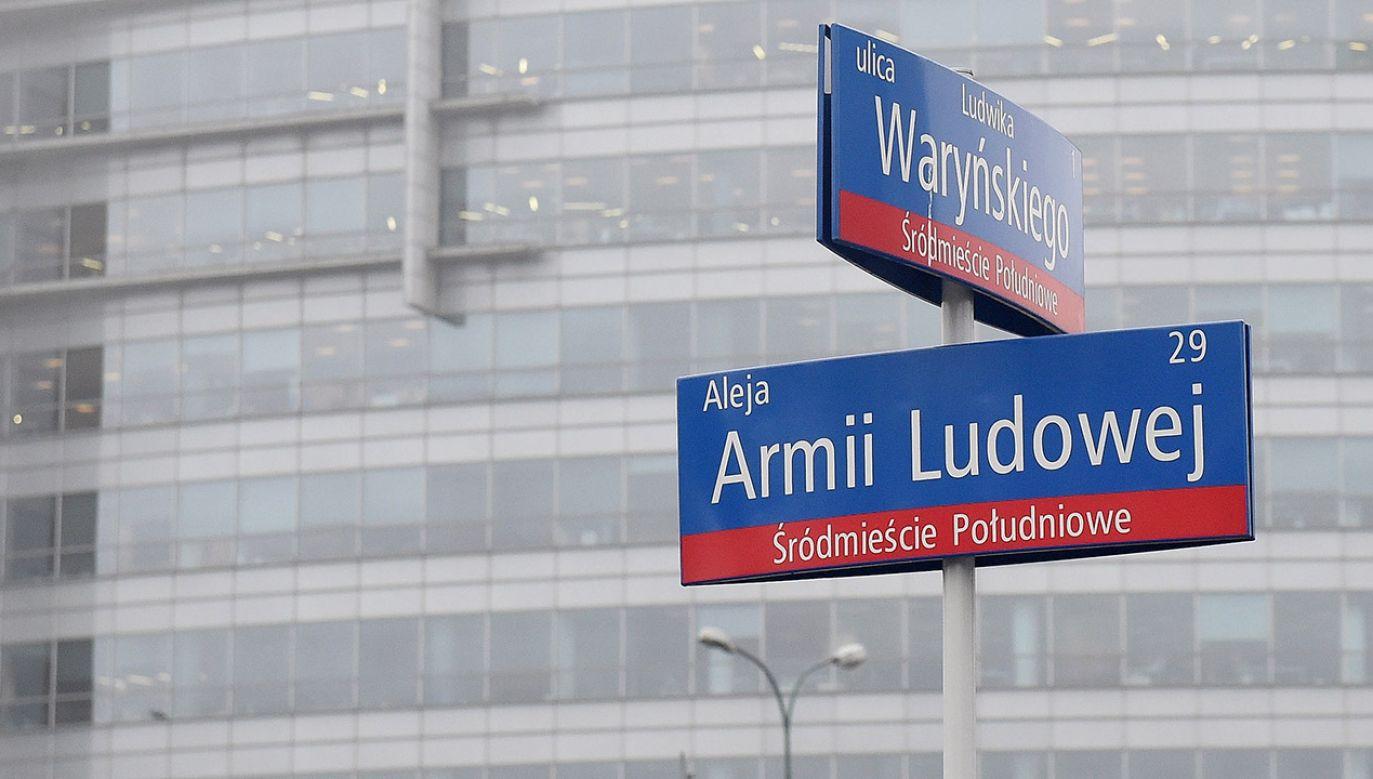 List otwarty do prezydenta Warszawy ma związek ze zmianą nazw ulic w Warszawie (fot. arch.PAP/Marcin Obara)