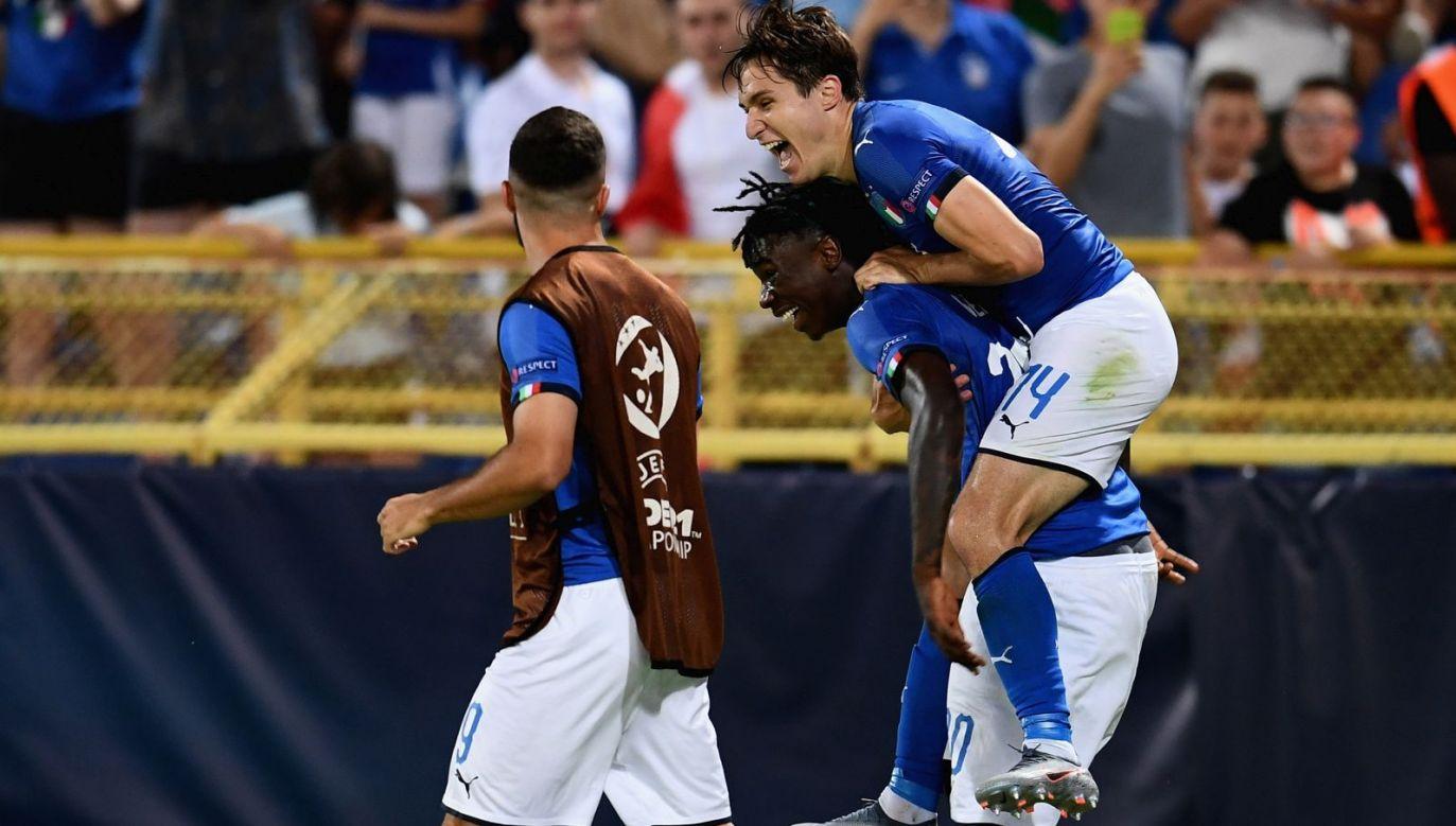 Radość piłkarzy reprezentacji Włoch U21 (fot. Getty Images)