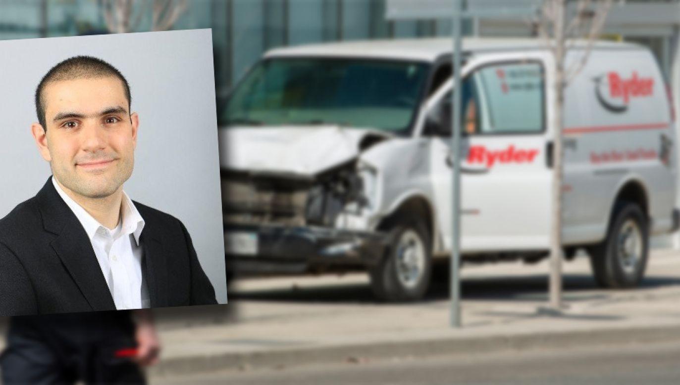 Do ataku Alek Minassian wykorzystał ciężarówkę z wypożyczalni (fot. PAP/EPA/WARREN TODA/TT)