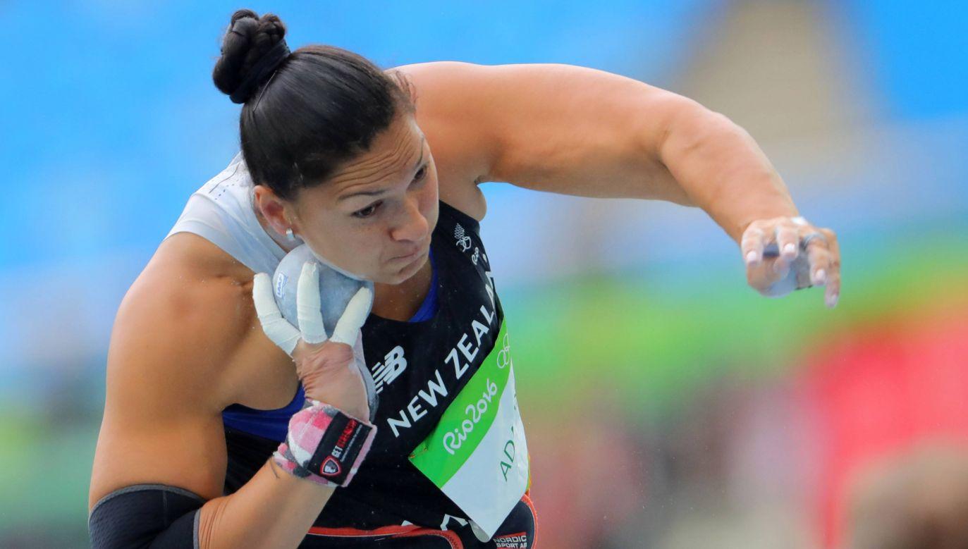 Valerie Adams podczas olimpiady w Rio de Janeiro w 2016 roku (fot. arch. PAP/DPA/Michael Kapper)
