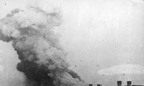 1 września 1939 r. Wysadzenie mostu na Wiśle w Tczewie. Fot. NAC