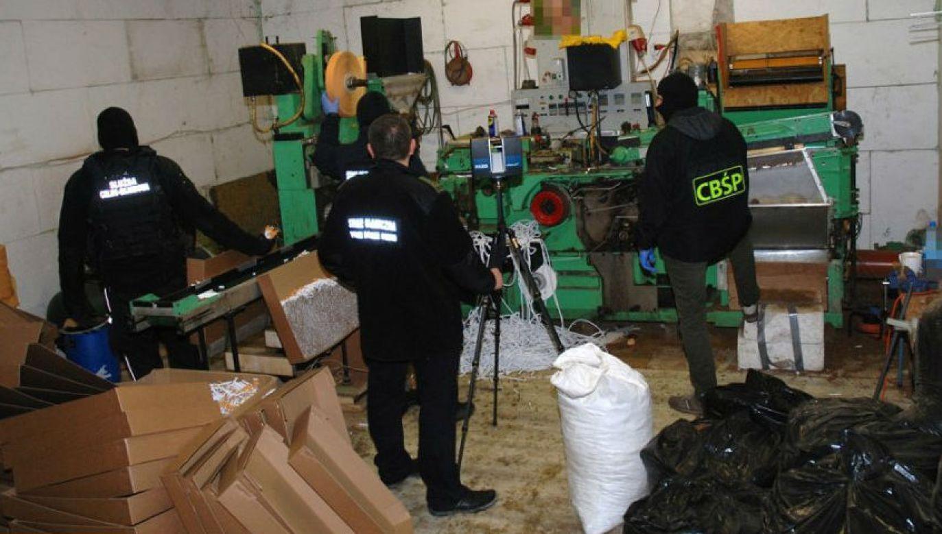 Fabryka odkryta przez policjantów CBŚP (fot. Straż Graniczna)