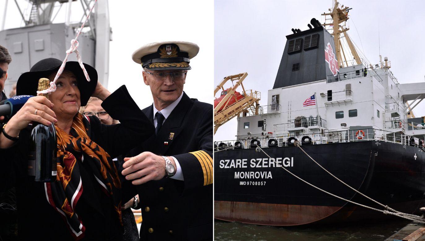 Wnuczka Tadeusza Wendy, inżyniera, głównego projektanta i kierownika budowy portu Gdynia, matka chrzestna statku