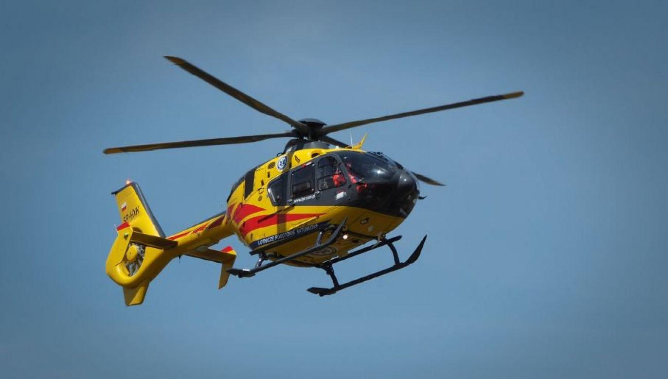 Jeden z poszkodowanych został zabrany przez śmigłowiec LPR (fot. Flickr/Marek Laszczka)
