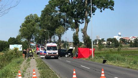 Po kraksie droga była nieprzejezdna przez kilka godzin (fot. Kinga Wasilewska)