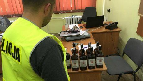 Policja skonfiskowała dziewięć butelek z trefnym alkoholem