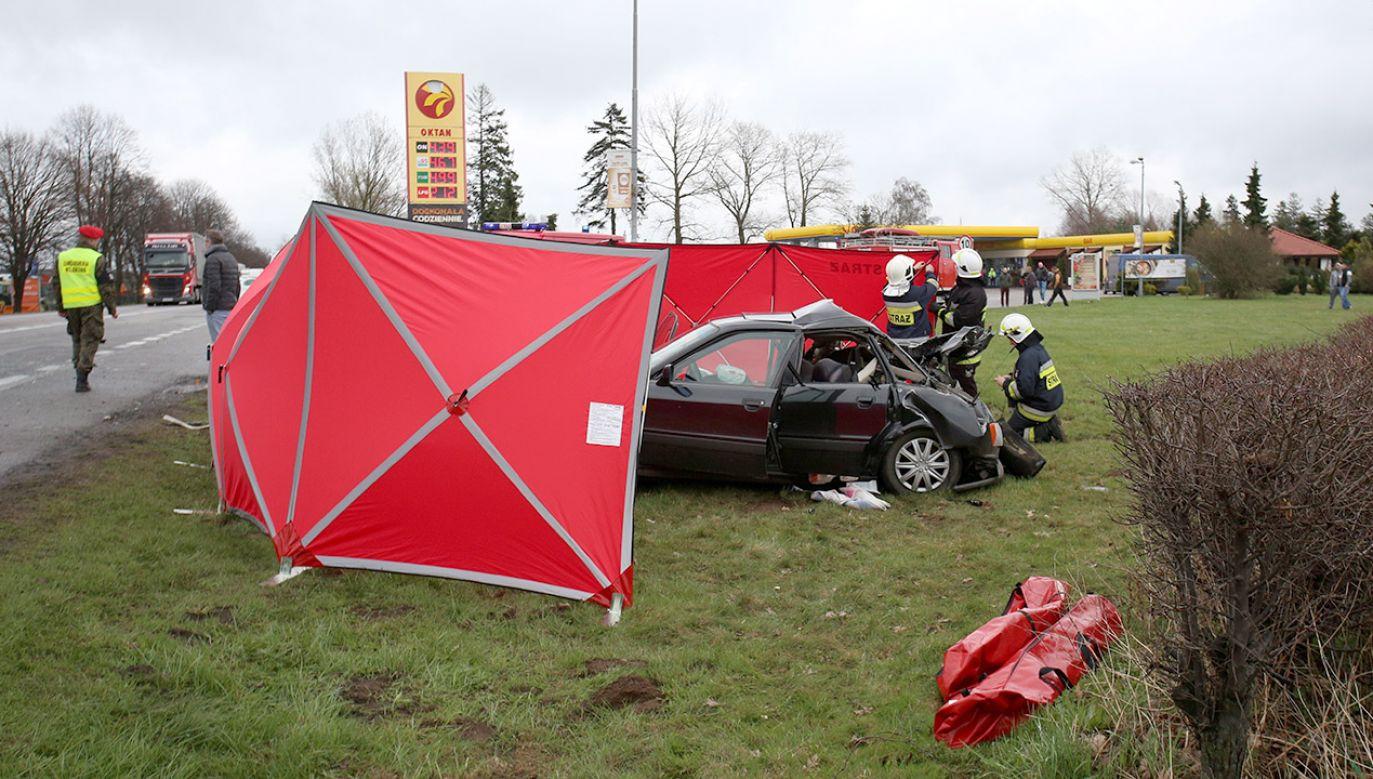 Trwa ustalanie przyczyn wypadku (fot. arch.PAP/Jan Dzban, zdjęcie ilustracyjne)