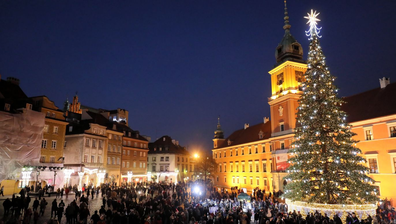 Castle Square, Warsaw, Poland on December 8, 2018. Photo: PAP/Paweł Supernak