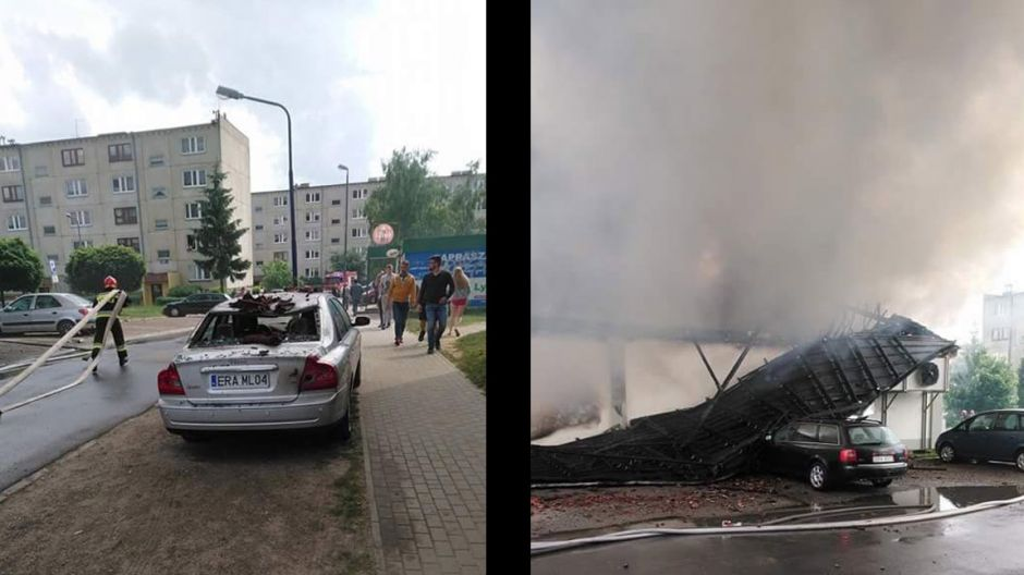 Pożar supermarketu
