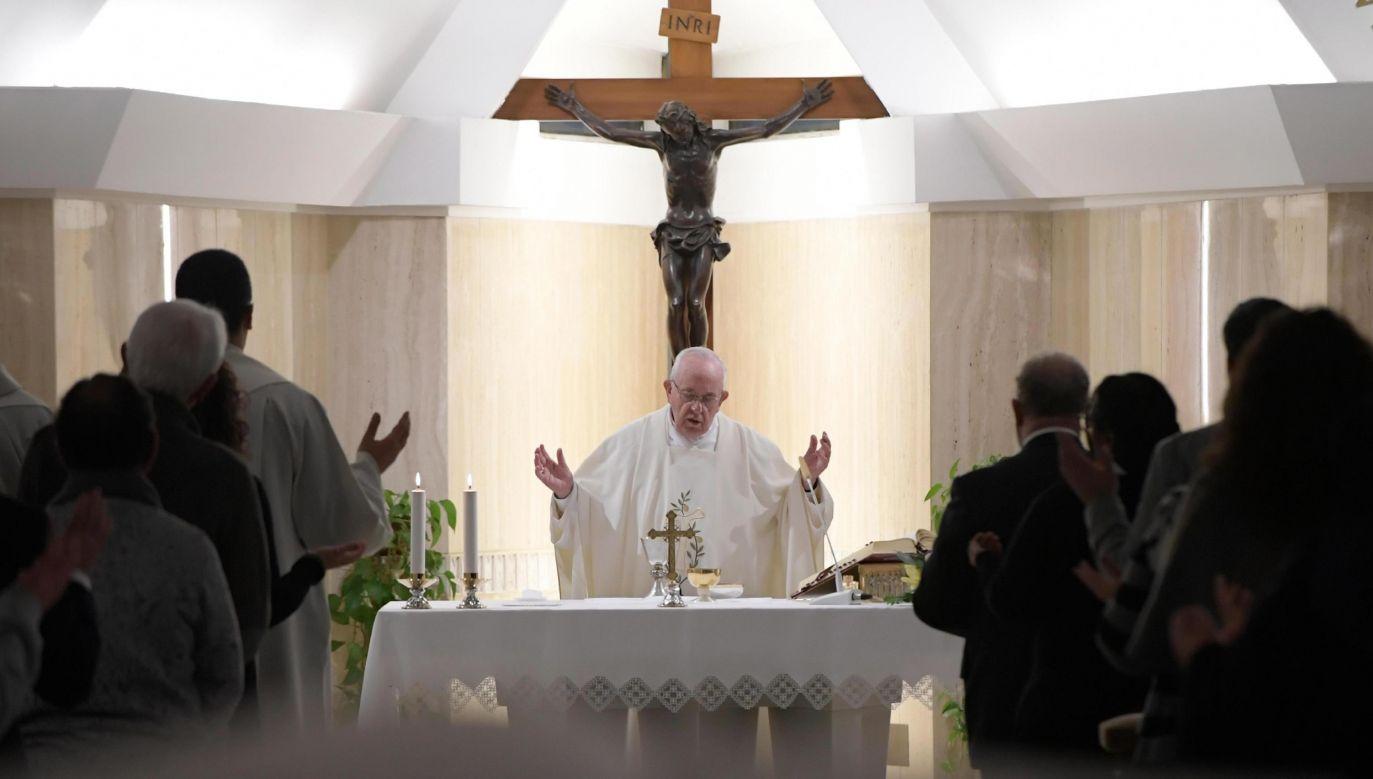 Papież Franciszek zachęca wiernych do modlitwy (fot.  PAP/EPA/VATICAN MEDIA HANDOUT)