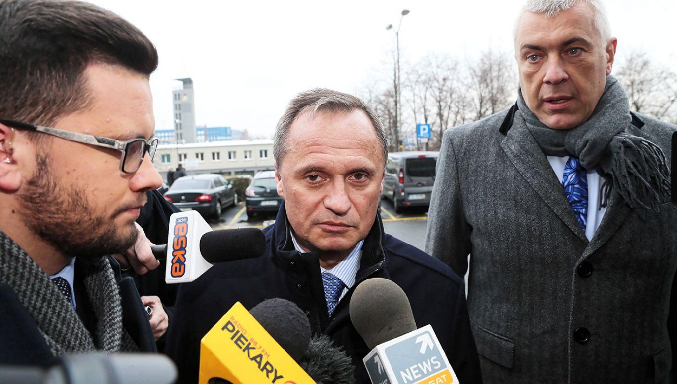 W poniedziałek w katowickiej prokuraturze rozpoczęło się przesłuchanie Czarneckiego (fot. PAP/Andrzej Grygiel)