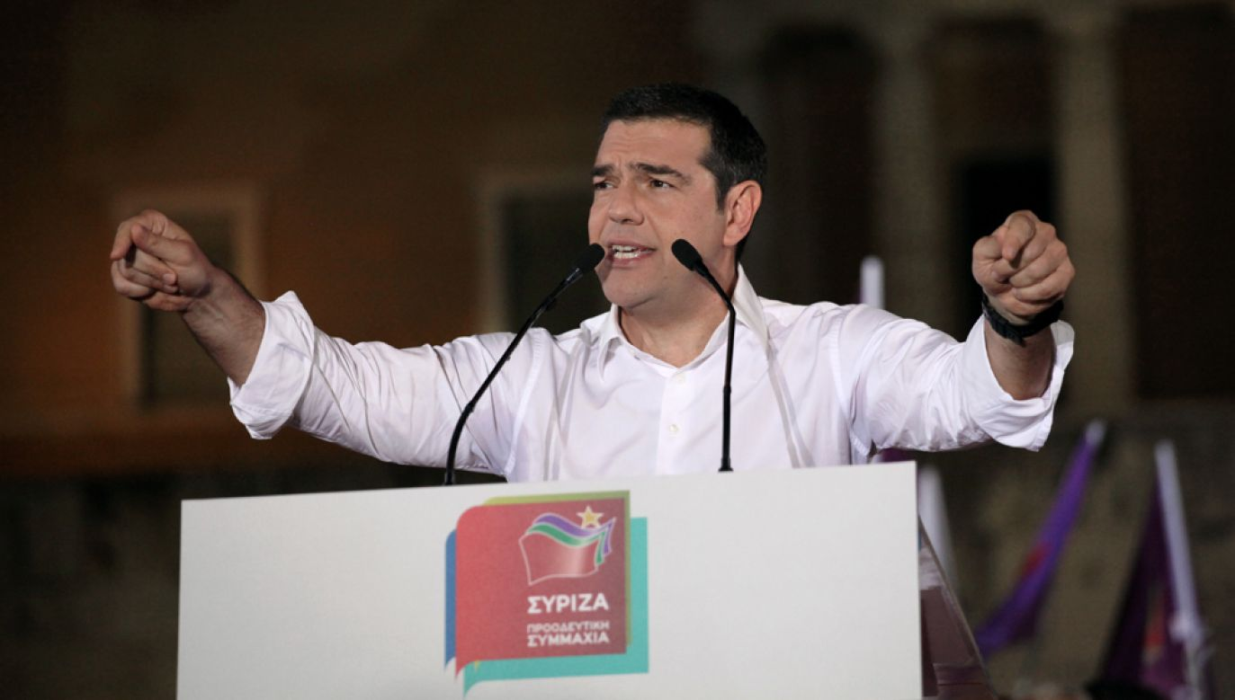 Alexis Tsipras i jego partia Syriza poniosła dotkliwą porażkę w wyborach do Europarlamentu (Giorgos Georgiou/NurPhoto via Getty Images)