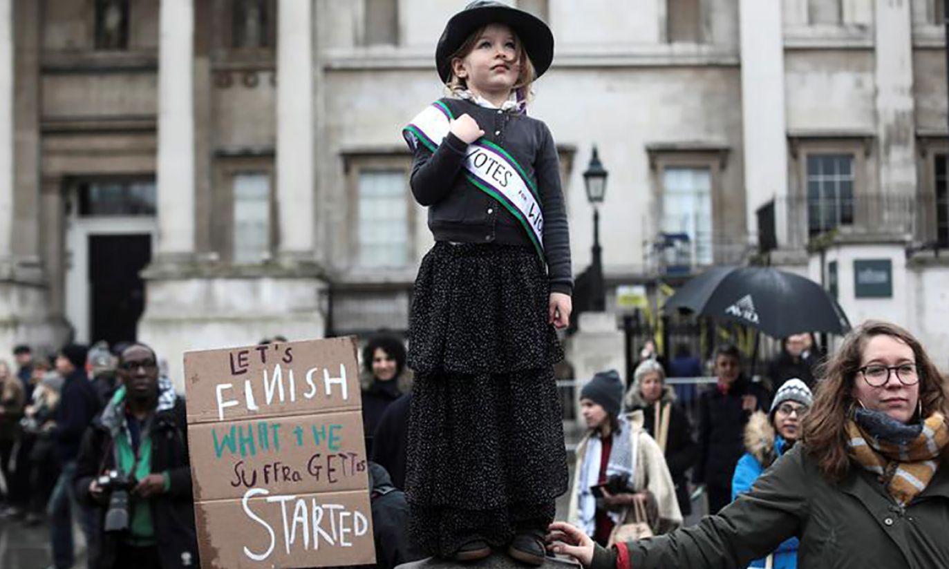 Marsz March4Women w Londynie (fot. REUTERS/Simon Dawson)