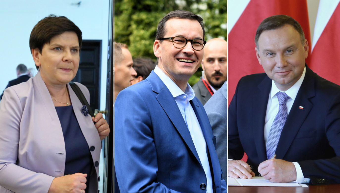 Największym zaufaniem cieszą się prezydent, premier i wicepremier ds. społecznych (fot. arch. Paweł Supernak/Radek Pietruszka/Rafał Guz)