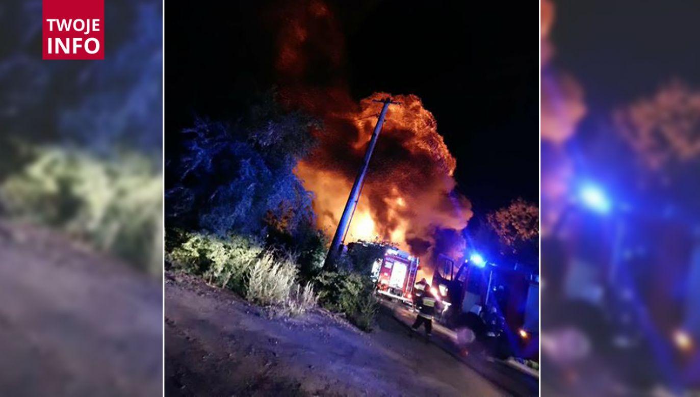Pożar wybuchł w środku nocy (fot. Twoje info)